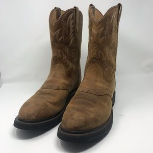 Ariat Sierra Saddle Brown Leather Work Boot